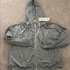 New with tags rhinestone wildfox hoodie